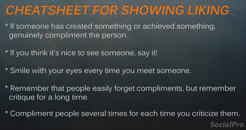 How to show liking