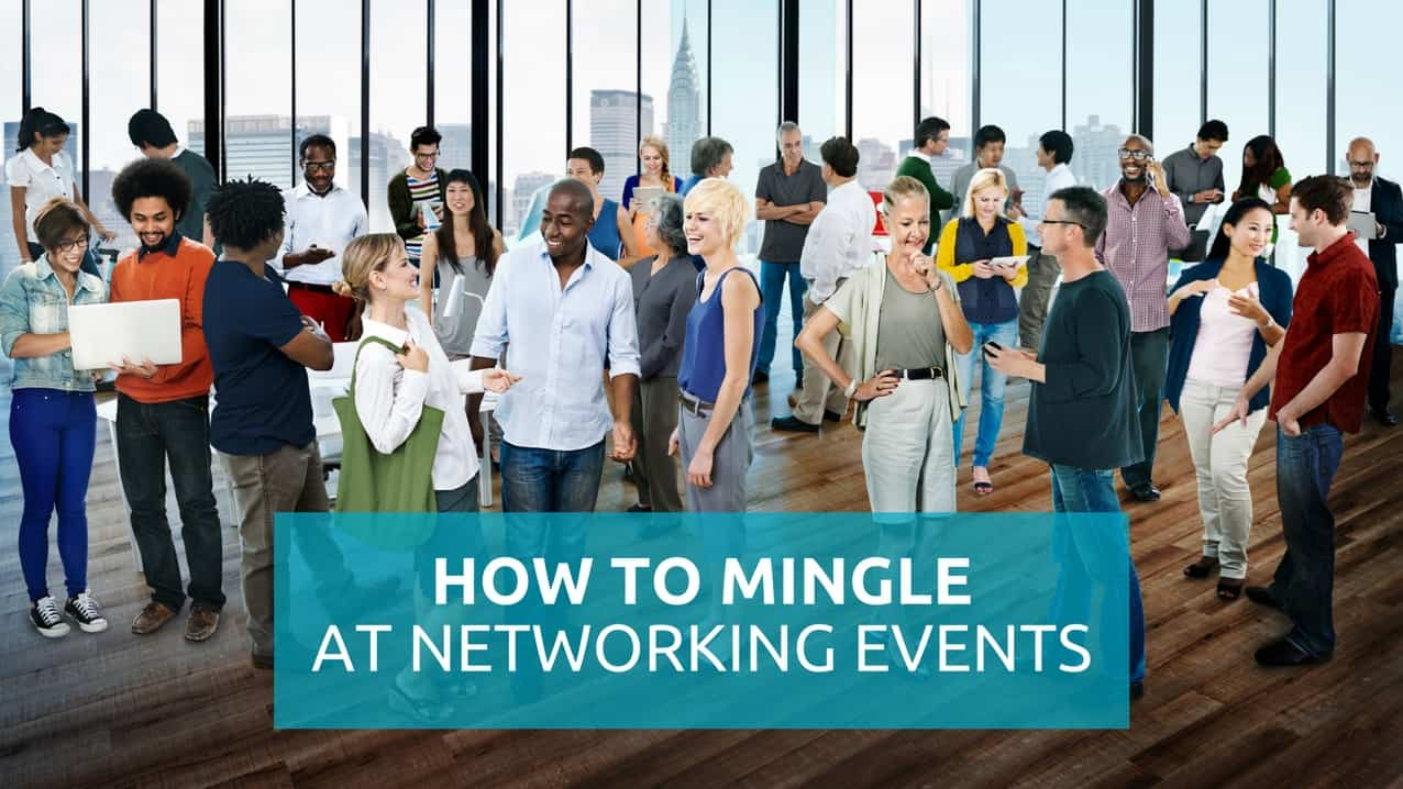 Mingle at a networking event